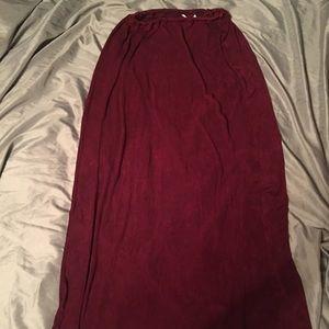 CLIO Maroon Maxi Skirt